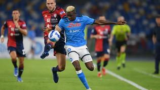 Napoli-Cagliari, le immagini del match