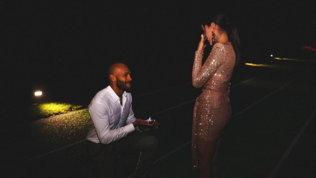 Marcell Jacobs e la proposta di matrimonio sulla pista di atletica