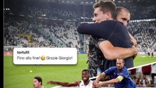 """Tortu- Chiellini, abbraccio prima di Juve-Chelsea: """"Gli ho restituito il centesimo"""""""