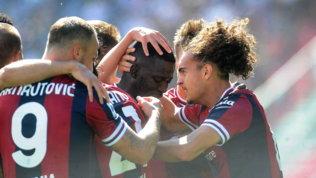 Tris firmato Barrow, Theate e Hickey: il Bologna demolisce la Lazio