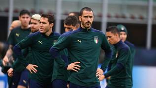 Azzurri in campo a San Siro, allenamento in vista della Spagna