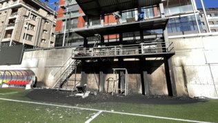 Andorra, fiamme all'Estadi Nacional