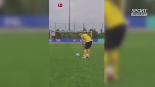 Haaland e i tre palloni: precisione impressionante!