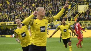 Il solito Haalandporta il Dortmund in testa, l'Union Berlino sogna