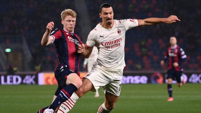 Il Milan fa e disfa, poi nel finale cala il poker a un Bologna in nove