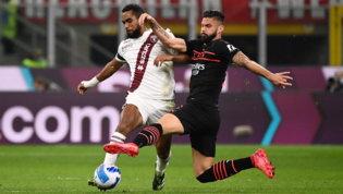 Milan col freno a mano tirato, ma in vetta: con il Torino basta Giroud